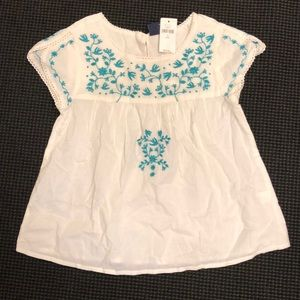 Toddler embroidered top